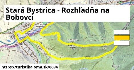 Stará Bystrica - Rozhľadňa na Bobovci