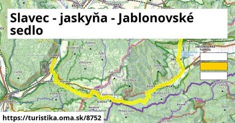 Slavec - jaskyňa - Jablonovské sedlo