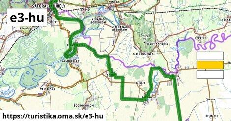 Medzinárodná diaľková turistická trasa E3, Maďarsko