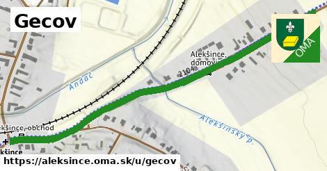ilustrácia k Gecov, Alekšince - 0,77km