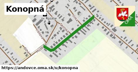 ilustrácia k Konopná, Andovce - 334m