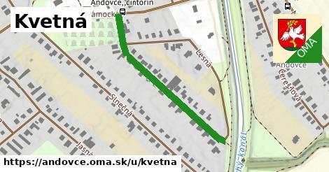 ilustrácia k Kvetná, Andovce - 400m