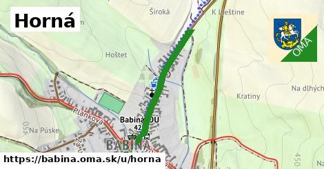 ilustrácia k Horná, Babiná - 575m