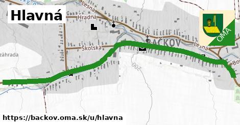 ilustrácia k Hlavná, Bačkov - 1,56km