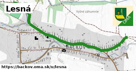 ilustrácia k Lesná, Bačkov - 1,51km