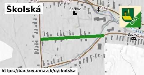 ilustračný obrázok k Školská, Bačkov