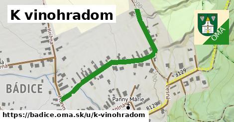 ilustrácia k K vinohradom, Bádice - 497m