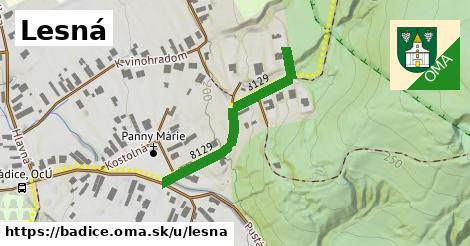 ilustrácia k Lesná, Bádice - 345m