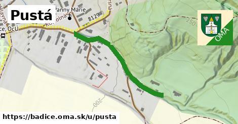 ilustrácia k Pustá, Bádice - 334m