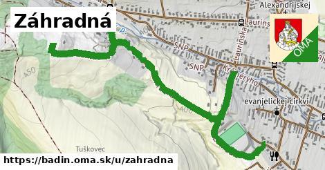 ilustrácia k Záhradná, Badín - 630m