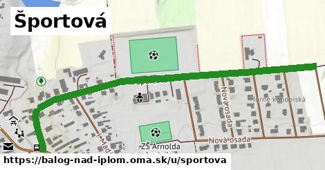 ilustrácia k Športová, Balog nad Ipľom - 0,76km