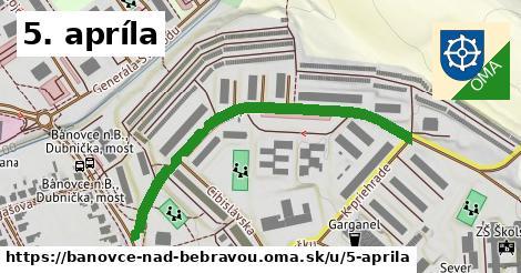 ilustračný obrázok k 5. apríla, Bánovce nad Bebravou