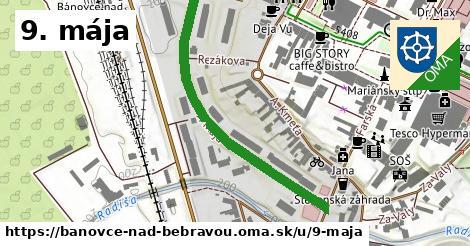 ilustračný obrázok k 9. mája, Bánovce nad Bebravou