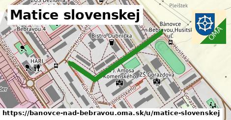 ilustračný obrázok k Matice slovenskej, Bánovce nad Bebravou