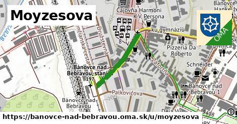 ilustrácia k Moyzesova, Bánovce nad Bebravou - 211m