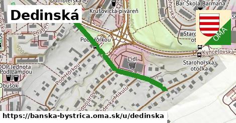 ilustrácia k Dedinská, Banská Bystrica - 372m