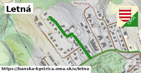 ilustrácia k Letná, Banská Bystrica - 354m