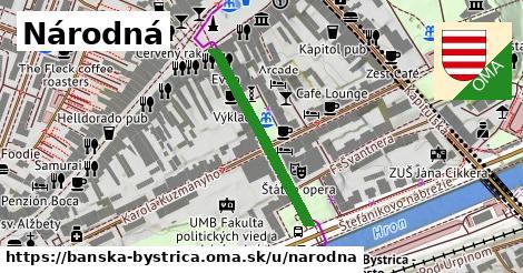 ilustračný obrázok k Národná, Banská Bystrica