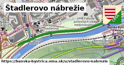 ilustračný obrázok k Štadlerovo nábrežie, Banská Bystrica