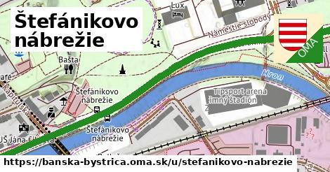 ilustračný obrázok k Štefánikovo nábrežie, Banská Bystrica