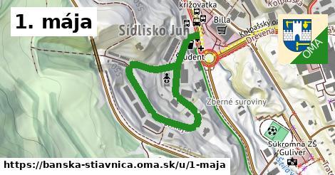 ilustračný obrázok k 1. mája, Banská Štiavnica