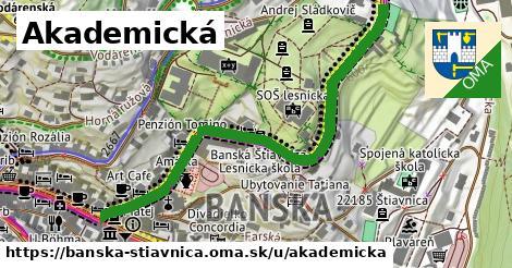 ilustračný obrázok k Akademická, Banská Štiavnica