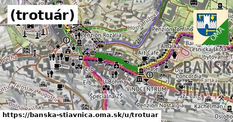 ilustračný obrázok k (trotuár), Banská Štiavnica