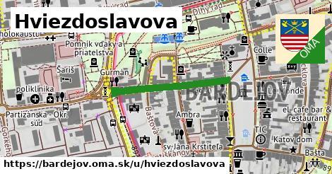 ilustrácia k Hviezdoslavova, Bardejov - 268m