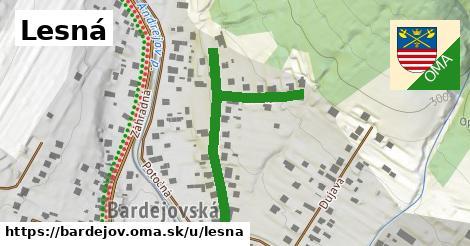 ilustrácia k Lesná, Bardejov - 433m
