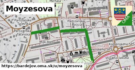 ilustrácia k Moyzesova, Bardejov - 479m