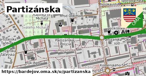 ilustračný obrázok k Partizánska, Bardejov