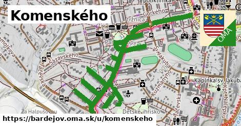ilustrácia k Komenského, Bardejov - 2,2km