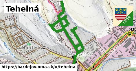 ilustrácia k Tehelná, Bardejov - 1,98km
