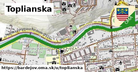 ilustrácia k Toplianska, Bardejov - 1,90km