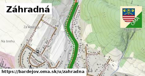 ilustrácia k Záhradná, Bardejov - 0,77km