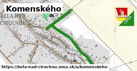 ilustrácia k Komenského, Belá nad Cirochou - 1,02km