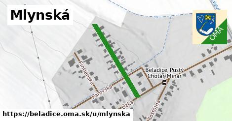 ilustrácia k Mlynská, Beladice - 274m