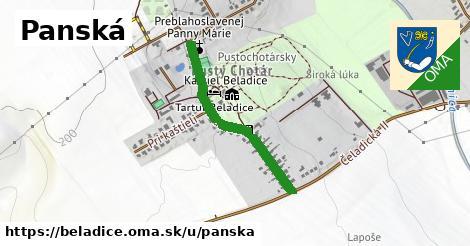 ilustrácia k Panská, Beladice - 624m