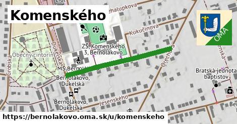ilustrácia k Komenského, Bernolákovo - 345m