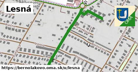 ilustrácia k Lesná, Bernolákovo - 604m