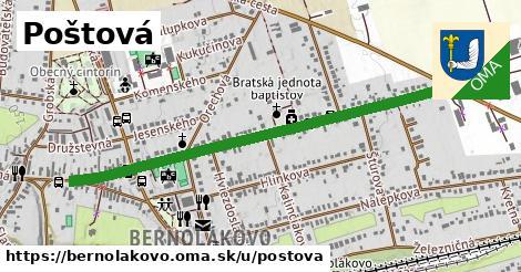 ilustrácia k Poštová, Bernolákovo - 1,14km
