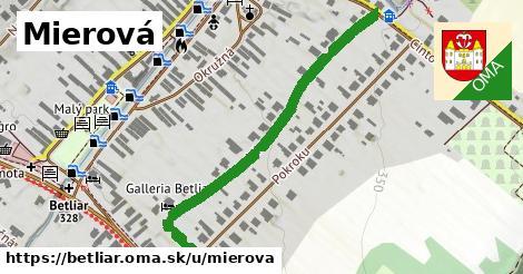 ilustrácia k Mierová, Betliar - 498m