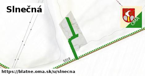 ilustrácia k Slnečná, Blatné - 265m