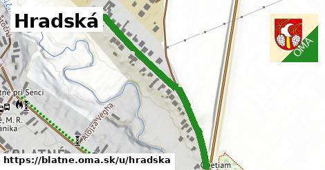 ilustrácia k Hradská, Blatné - 495m