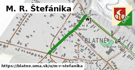 M. R. Štefánika, Blatné