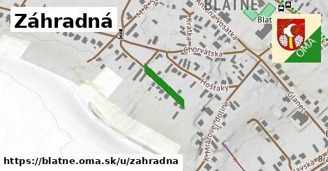 ilustračný obrázok k Záhradná, Blatné
