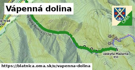 ilustrácia k Vápenná dolina, Blatnica - 1,32km