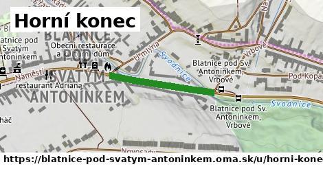 ilustrácia k Horní konec, Blatnice pod Svatým Antonínkem - 244m