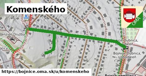 ilustračný obrázok k Komenského, Bojnice