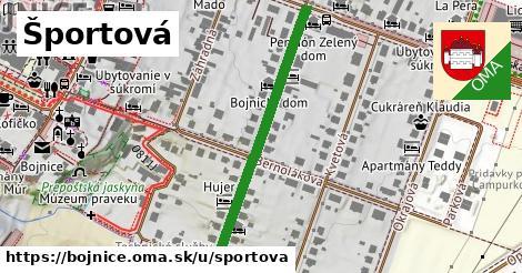 ilustrácia k Športová, Bojnice - 394m